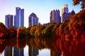 Fall sunset in midtown Atlanta, GA Royalty Free Stock Photo