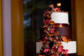 Fall themed wedding cake Stock Photography