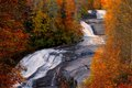 Fall at triple falls at dupont state forest in western north carolina Stock Images