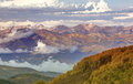 Fall valley in the wasatch mountains stunning background usa Stock Photo