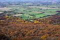 Fall vista of valley from high rock maryland on a day Royalty Free Stock Photography