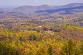 Fall vista view from the blue ridge parkway Stock Photo