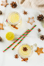 Festive Snowball Cocktail Royalty Free Stock Photo