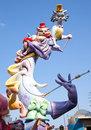 Fallas fest figures on Valencia province Stock Photos