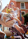 Fallas fest figures on Valencia province Royalty Free Stock Photo