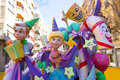 Fallas is a popular fest in valencia spain figures will be burne with that burned march night Royalty Free Stock Images