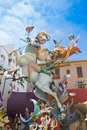 Fallas is a popular fest in valencia spain figures will be burne with that burned march night Stock Images