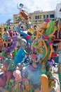 Fallas is a popular fest in valencia spain figures will be burne with that burned march night Stock Photography