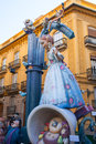 Fallas in valencia fest figures that will burn on march tradi traditional popular celebration Royalty Free Stock Photo