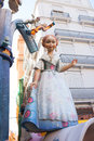 Fallas in valencia fest figures that will burn on march traditional popular celebration Royalty Free Stock Photo