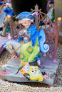 Fallas Valencia papier mache popular fest figures Royalty Free Stock Image