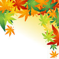 Fallen autumn leafs vector illustration of Stock Images