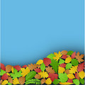Fallen Leaves Background Stock Photography