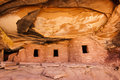 Fallen roof ruin close view of anasazi in road canyon on cedar mesa Stock Image