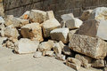 Fallen Stones Outside the Temple Mount Royalty Free Stock Photo