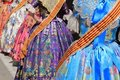 Falleras costume fallas dress detail from Valencia Royalty Free Stock Photo