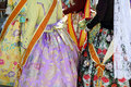 Falleras costume fallas dress detail from Valencia Royalty Free Stock Images
