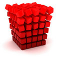 Falling apart cube Royalty Free Stock Photo