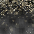 Falling Bokeh and Sparkles Royalty Free Stock Photo