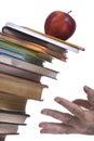 Falling books Royalty Free Stock Photo