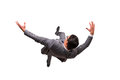 The falling businessman isolated on the white background Royalty Free Stock Photo
