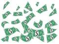 Falling Cash Paper Money