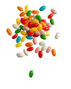 Falling color jelly beans Royalty Free Stock Images
