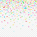 Falling confetti on checkered background. celebration party holiday decoration Royalty Free Stock Photo