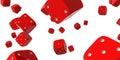 Falling dice Royalty Free Stock Photo