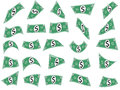 Falling Dollars, Money Cash Shapes Royalty Free Stock Photo