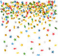 Falling down confetti Royalty Free Stock Images