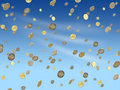 Falling euro coins Royalty Free Stock Photography