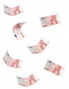 Falling euro notes Stock Photo