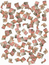 Falling fifty pound notes Stock Photography