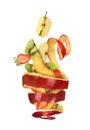 Falling fruit Royalty Free Stock Photo
