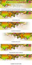 Falling Leaves Logo Masthead Banner Stock Photos