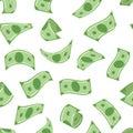 Falling monies dollars Royalty Free Stock Photo