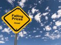 Falling prices ahead Royalty Free Stock Photo