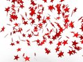 Falling red stars Royalty Free Stock Photography