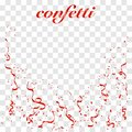 Falling shiny Red confetti