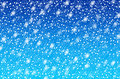 Falling snow background blue collour Royalty Free Stock Images