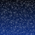Falling snow background illustration Royalty Free Stock Photos