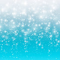 Falling snow on a blue background. Vector illustration 10 EPS. Abstract white glitter snowflake background. Magic Christmas eve sn Royalty Free Stock Photo