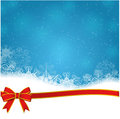 Falling snow on the blue vector image Stock Photography