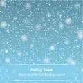 Falling snow vector background for your own design Stock Photography
