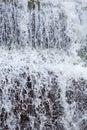 Falling water, waterfall detail in Angel Falls, Venezuela Royalty Free Stock Photo