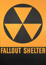 Fallout shelter sign the official black and yellow Royalty Free Stock Photography