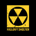 Fallout Shelter. Vintage Nuclear Symbol. Radioactive Zone Sign. Vector Illustration Royalty Free Stock Photo