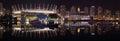 False Creek Night Panorama, Vancouver Royalty Free Stock Photo