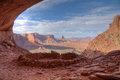 False kiva canyonlands national park the scenic landscape of from near moab utah Stock Image